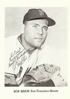 Bob Shaw Signed Autographed 5X7 Photo Jay Publishing SF Giants COA