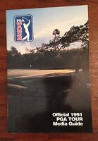 Lot of 6 Official PGA Tour Media Gides 1991,1992,1993,1995,1996,1997
