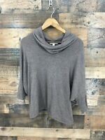 Green Envelope Women's Taupe Soft Cowl Neck Batwing Sleeve Pullover Sweater Sz S