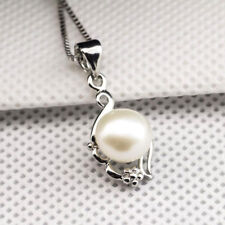 925 Sterling Silver Pearl Inlaid Silver Flower Jewelry Pendant Plus Chain Wholes