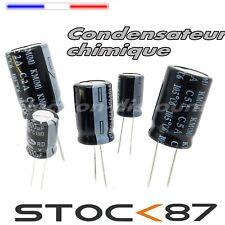 10 à 100pcs  Condensateur chimique 25V 10uF - 22uF - 33uF - 47uF  capacitor 105°