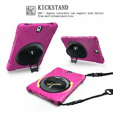 Kids Shockproof Case With Shoulder Strap & Stand For Samsung Galaxy Tab S3 T820