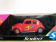 SOLIDO HARD TOP CUSTOM GRAPHIC W/MAG WHEELS VW Beetle 1:18 SCALE