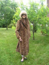 #A10 You will like this one mink fur coat  light brown medium fit 10/12