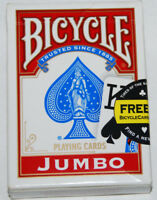 Bicycle Jumbo Face Playing Cards Deck Standard Size Made In USA USED