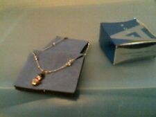 New In Box- Free Ship Rhtf 2003 Avon Holiday Charm Anklet-S 00004000 Nowman-Silvertone-