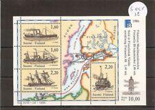 Finland 1986 SG1107ms 4v Sheet Finlandia 88-Ships-SS Aura-1858-Paddle Steamer/