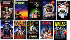 80's Horror Sci Fi Movie Posters Creepshow Night Breed  Dollman Critters Re-Anim