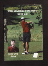 Oklahoma Sooners--2000 Golf Pocket Schedule--C & R Print Shop