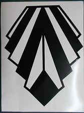Extra Large Art Deco Style Gloss Black Wall Decoration Vinyl Sticker (25-09-Lg)