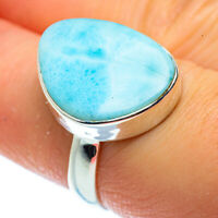 Larimar 925 Sterling Silver Ring Size 7.5 Ana Co Jewelry R40781F
