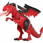 Liberty Imports Dino Planet Battery Operated Walking Fire Dragon Toy with