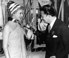 Salvador Dali and Ingrid Bergman photograph - L1953 - On the set of Spellbound