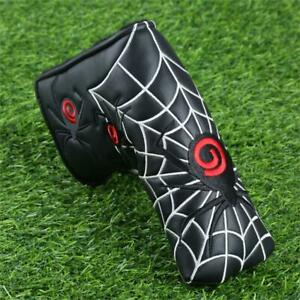 Spider Putter Cover - Blade Style Putter Head Cover - Black - Free Post