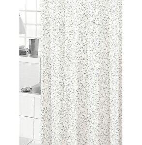 Shower Curtain Bathroom Mold PVC Waterproof with Rings Wet Look Drops