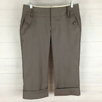 Old Navy womens size 4 stretch gray low rise career dress capri pants