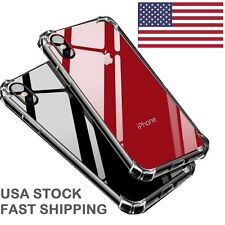 Hybrid Shockproof Thin Clear TPU Bumper Case Fits iPhone X 7 8 Plus XR XS MAX