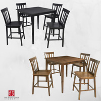5 Piece Counter Height Dining Table And Chairs Set Bar Pub Kitchen Contemporary