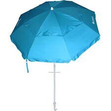 Ammsun 8 Panels 7 Ft Sand Anchor Beach Umbrella with Tilt Heavy Duty Beach