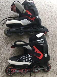 K2 exo tech rollerblades inline roller skates size 13 1 rear guard see add