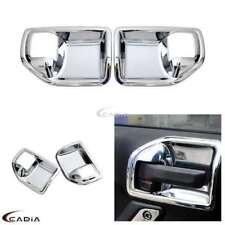 2x Chrome Interior Handle Bowls Cover Trim For 11-17 Jeep JK Wrangler 2 & 4 Door