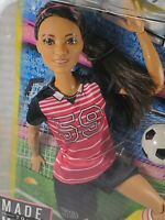 NRFB BARBIE ~ N35 MADE TO MOVE AA RAVEN CRYSTAL SOCCER ARTICULATED FASHION DOLL