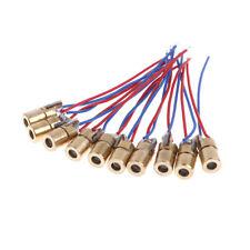 10Pcs 650nm 6mm 3V 5mW Mini Laser Dot Diode Module Head WL Red 0cn
