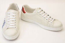 Gucci white 10 leather Loved logo text low top trainer sneaker UK9 shoe $790