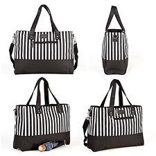 Allis Baby Changing Bags Large Nappy Bag Diaper Tote 5pcs Black