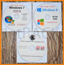 Windows 7 32 / 64 Bit & Windows 8 64bit Restore, Repair, Recover, ReInstall w/HD