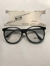 Vintage New Europa Marcia Black Plastic Glasses 54-17-140