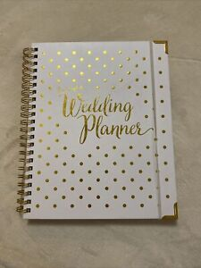 Cute Wedding Planner Organizer Gold Diary Journal Bride Lists Marriage Timeline