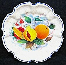 Vintage LAMI Italy Decorative Crackled Fruit Plate Melamine  8 1/4""