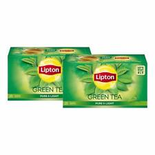 Lipton Pure and Light Green Tea Bags, 25 Bags (Pack of 2)