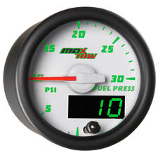MaxTow 52mm White Double Vision 30 PSI Diesel Fuel Pressure Gauge  MT-WDV11_30