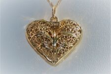 Heart Pendant Necklace Woman's Jewelry in 14 Karat Yellow Gold