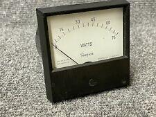 Simpson Watt Meter Ac Wattmeter Analog Panel Volt Amp 0 75 Watts Ac 150v 1 Amp