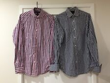 Bundle 2 X ben Sherman Mens Checkered Button Shirts Size S Slim Fit EUC