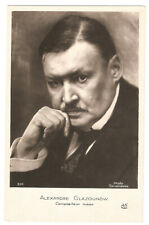ARTIST SIGNED 52 -ALEXANDRE GLAZOUNOW (RUSSIAN COMPOSER) (Real Photo)