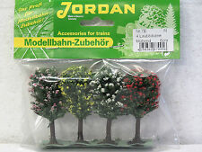 "JORDAN #7E scenery ""4 pack"" FLOWERING TREES 6cm N scale New in pack"