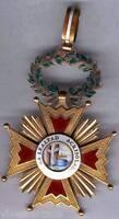 España medalla Condecoración Orden Isabel la Catolica Cruz de cuello Oro 1847/68