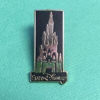 DISNEY PIN EURO DISNEY BLACK & GOLD CASTLE - DISNEYLAND PARIS