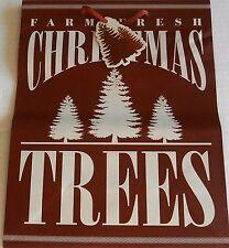 """Gift Bag  FARM FRESH CHRISTMAS TREES  12"""" X 10"""" X 5 1/4"""""""