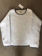 New Item Ladies Size Large White Sherpa Sweater Sweatshirt - Dylan Los Angeles