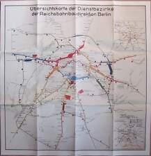 Plan der Reichsbahn Baudirektion Berlin 1939 Übersichtskarte der Dienstbezirke