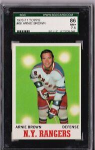 1970 - 1971 Topps Arnie Brown #66 SGC 86 P857