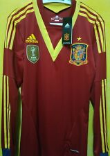 Spain Confederations Jersey 2012 2013 Formotion Long Sleeve BNWT NWT New Shirt