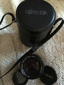 MINOLTA MD Zoom Lens 35 - 105mm F3.5 - 4.5 Clear Camera Lens