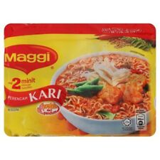 Malaysian maggi 2minute noodles pack containing 5 maggis 75g