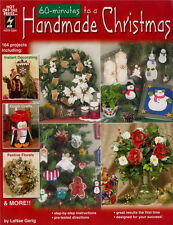 60 MINUTES HANDMADE CHRISTMAS Craft Floral Pattern Paperback Book in English